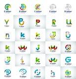 Ensemble de vecteur d'icônes abstraites de logo d'affaires de lettre Image libre de droits