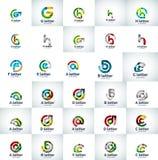 Ensemble de vecteur d'icônes abstraites de logo d'affaires de lettre Photos stock