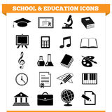 Icônes d'école et d'éducation Photo libre de droits