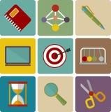 Ensemble de vecteur d'icônes d'éducation Photo libre de droits