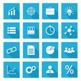 Ensemble de vecteur d'icônes d'affaires Image libre de droits
