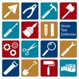 Ensemble de vecteur d'icônes d'outil Images stock