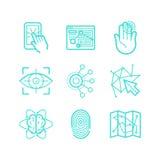 Ensemble de vecteur d'icônes dans le style linéaire à la mode Image libre de droits