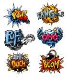 Ensemble de vecteur d'icônes de bandes dessinées Image libre de droits