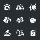 Ensemble de vecteur d'icônes de démolition Image stock