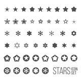 Ensemble de vecteur d'icônes et de pictogrammes d'étoile Photographie stock