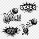 Ensemble de vecteur d'icônes monochromes de bandes dessinées Images stock