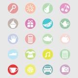 Ensemble de vecteur d'icônes pour le magasin ou le marché Image libre de droits