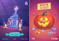 Ensemble de vecteur d'illustrations de Halloween Photographie stock libre de droits