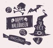 Ensemble de vecteur d'insignes de Halloween illustration de vecteur