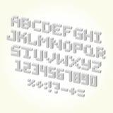 Ensemble de vecteur d'isolement par police de brique de pixel Photo stock