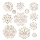 Ensemble de vecteur d'ornements circulaires illustration de vecteur