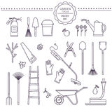 Ensemble de vecteur d'outils de jardin Photo stock