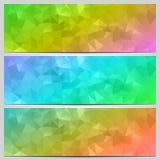 Ensemble de vecteur de bannières multicolores avec le résumé Photographie stock