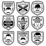 Ensemble de vecteur de Barber Labels pour les boutiques etc. Images stock