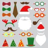 Ensemble de vecteur de cabine de photo de Noël illustration stock