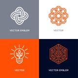 Ensemble de vecteur de calibres abstraits de conception de logo dans le St linéaire à la mode illustration de vecteur