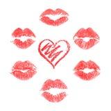 Ensemble de vecteur de copies de lèvres Image libre de droits