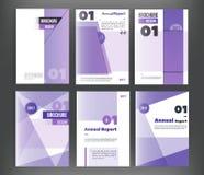 Ensemble de vecteur de couverture de livre d'affaires de calibres de couverture de brochure, insecte, style moderne de l'identité Photo stock