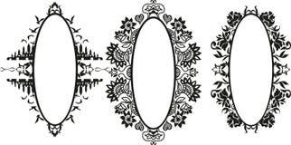 Ensemble de vecteur de différentes silhouettes de cadre de styles Photos stock