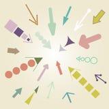 Ensemble de vecteur de flèche de vintage illustration stock