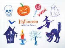 Ensemble de vecteur de Halloween Photos stock