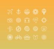Ensemble de vecteur de 20 icônes et de ligne style mono de connexion illustration libre de droits