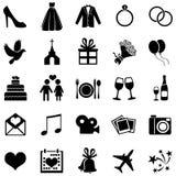 Ensemble de vecteur de 25 icônes les épousant illustration libre de droits