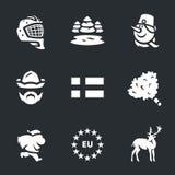 Ensemble de vecteur de la Finlande Images libres de droits