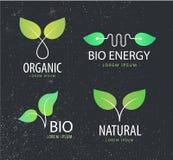 Ensemble de vecteur de logos d'eco, feuilles, organiques illustration de vecteur