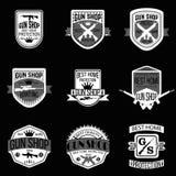 Ensemble de vecteur de logotypes et d'insignes d'armurerie Image stock