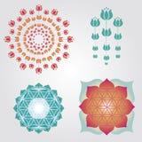 Conceptions florales de logo Images stock