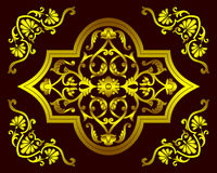 Ensemble de vecteur de modèles floraux décoratifs dans le style ethnique national de l'Ouzbékistan, Asie illustration libre de droits
