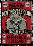 Ensemble de vecteur de moto de vintage ensemble de vecteur de motocyclette de cavaliers de crâne Images stock