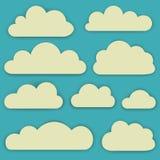 Ensemble de vecteur de nuages Photographie stock