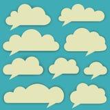 Ensemble de vecteur de nuages Images libres de droits