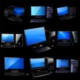 Ensemble de vecteur de PC. Images stock