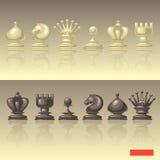 Ensemble de vecteur de pièces d'échecs Images libres de droits