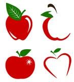 Ensemble de vecteur de pommes Photo libre de droits