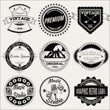 Ensemble de vecteur de rétros labels pour la conception Photographie stock libre de droits
