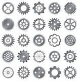 Ensemble de vecteur de roues de vitesse sur le fond blanc Image stock