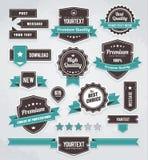 Ensemble de vecteur de rétro étiquettes Image libre de droits
