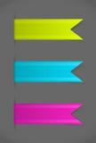 Ensemble de vecteur de signets colorés Images libres de droits
