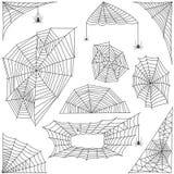 Ensemble de vecteur de silhouette de toile d'araignée illustration de vecteur