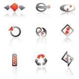 Ensemble de vecteur de symboles Photographie stock