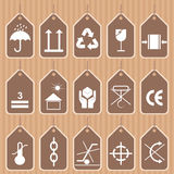 Ensemble de vecteur de symboles d'emballage et d'expédition Image libre de droits