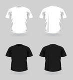 Ensemble de vecteur de T-shirts Images stock