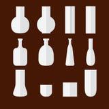 Ensemble de vecteur de vases plats illustration de vecteur