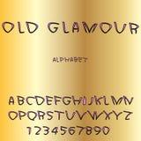 Ensemble de vecteur de lettres d'alphabet et de symboles de nombres Rose avec le texte noir illustration de vecteur