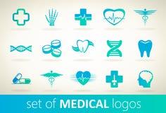 Ensemble de vecteur médical de logo Photos stock